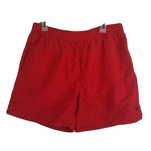 Ralph Lauren Polo Mesh Lined Red Drawstring Swim Shorts Trunks Mens XL