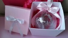 PERSONALISED BABYS 1ST FIRST CHRISTMAS BAUBLE KEEPSAKE  IN HANDMADE BOX GIFT