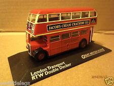London Transport RT/RTW Bus Double Decker Die Cast 1-76 Atlas Editions New