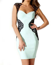 Lipsy Lace Aplique Bodycon Dress 12 Mint Sweetheart Evening Party Wedding Summer