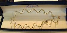 """14K SOLID Y GOLD ITALY TWO SPIRAL CABLE NECKLACE~ 9.54 GR~ADJUST TO 18"""" NO SCRAP"""