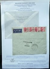 MALAYA 22 DEC 1939 AIRMAIL CENSORED COVER FROM PENANG VIA SINGAPORE TO HOLLAND