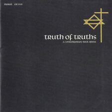 TRUTH OF TRUTHS: A ROCK OPERA (*NEW-2-CD Set, 2015, Oak Records) Xian CCM Psych