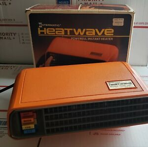 Intermatic HeatWave Portable Space Heater JH-600 ORANGE vintage 70's- works!