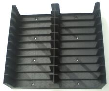 Black Cassette Tape tray (Holds 20 tapes, 2x10) storage/holder/stand/rack/box