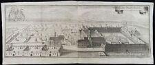 KLOSTER BENEDIKTBEUERN BAYERN PANORAMA KUPFERSTICH ANSICHT WENING 1701 I77