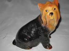 STUNNING LARGE China Yorkshire Terrier Dog Ornament 30 cm 12 inches tall