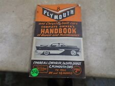 Clymer Plymouth Used Manual Handbook VP 70s 1955 VP-CM358