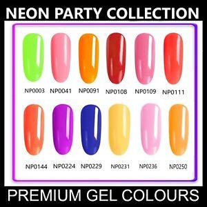 Neon Party Nail Gel Polish CANNI UV LED Set Colour Varnish Glitter Coat 7.3ml