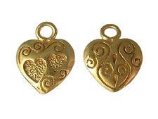 DH41G - 24k Gold over .925 Sterling Silver Vermeil Lovely Love / Heart Charm