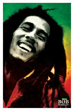 Bob Marley Paint Poster! Smile Feel All Right Rasta colors Iconic Legend New!