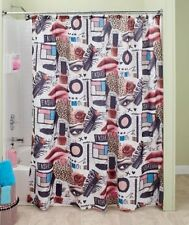 Hollywood Glamour Chic Fashion Diva Leopard Makeup Lipstick Shower Curtain