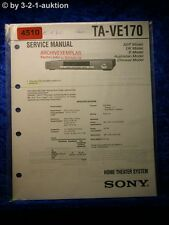 Sony Service Manual TA VE170 Home Theater System (#4510)