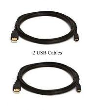 2 USB Cables for Panasonic HDC-HS9P HS9PC HS20 HS100 HS200 HS300 HS300K SD1 SD3