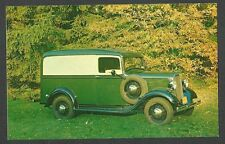 PICTURE POST CARD OF 1934 CHEVEROLET HALF-TON PANEL TRUCK CLASSIC CAR, MINT