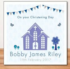 CHRISTENING CARD (PERSONALISED) Blue_BAPTISM