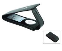 Exspect Black Premium Nappa Leather Flip Case Cover for iPod Nano 4th Generation