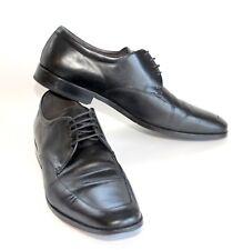 ECCO Dacono Black Leather Apron Lace Dress Shoe - Men's 45 11/11.5