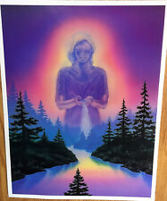 "River Queen Fantasy Poster Art Print Gaia Earth Mother Goddess 23""x18"""