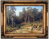 Paris 1872 Wood Framed Canvas Print Repro 8x10 Renoir Pont Neuf
