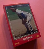 50) TED SIMMONS Milwaukee Brewers 1988 Score Baseball Card #285 LOT