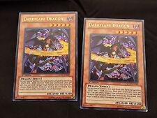 YuGiOh DarkFlare Dragon x2 SDDC-EN002 1st Edition Holo Rare