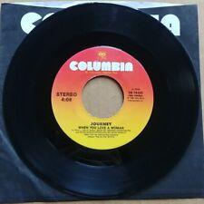 "JOURNEY When You Love A Woman 45 7"" Record Vinyl Rare CLASSIC ROCK Records 1996"