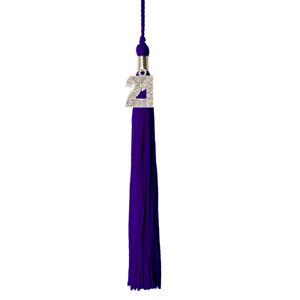 "Graduation Tassel 2021 BLING CHARM 9"" Solid colors High School College"