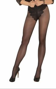 French Cut Support Pantyhose Nylons Hosiery Black Nude Regular or Plus 1715