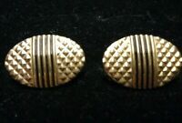 Vintage Black and Gold Oval Cuff Links