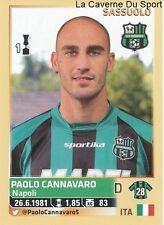 PAOLO CANNAVARO # ITALIA US.SASSUOLO RARE UPDATE STICKER CALCIATORI 2014 PANINI
