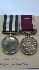 Victorian Egypt Medal 1882-89 Army Long Service Colour Sergeant F Pendleton