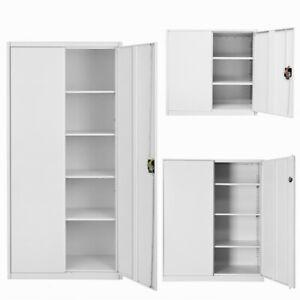 Metal Two Door Office Filing Cabinet 3/4/5 Layers Steel File Storage Cupboard UK