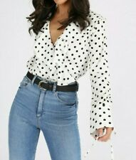 Influence White Polka Dot Bodysuit Sizes 12 & 14