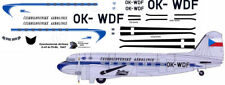 Czechoslovak Airlines Douglas DC-3 airliner decals for Minicraft 1/144 kits