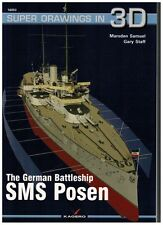 The German Battleship SMS Posen - Super Drawings in 3D - Kagero ENGLISH NEW!!!