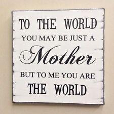 Shabby Vintage Cartel Placa Madre Regalo Día De Las Madres Cumpleaños Regalo De Navidad