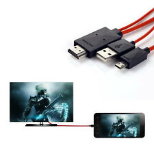 Micro USB to 1080P HDMI HDTV AV TV Adapter Cable Cord For HTC ONE Max Mini KF