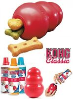 KONG Classic Dog Toy Chew Teething Snack Paste Treat Dispenser Dog Toys