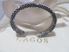 Lagos Signature Caviar Beaded Sterling Silver Torque Bracelet