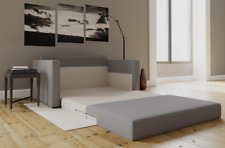 Small Space Loveseat Sleeper Sofa Bed Convertible Modern Pull Out Couch Grey