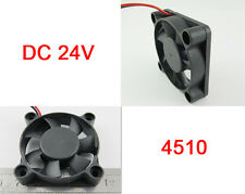 50pcs Brushless DC Cooling Fan 45x45x10mm 4510 7 blades 24V 2pin Connector UK