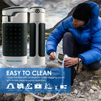 Outdoor Portable Water Purifier Ultra Filter Pump Survival Gear Hiking Emergency