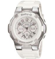 Casio BGA110-7B Womens Baby-G Slim Marine White Ana-Digi Dial White Resin Watch