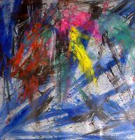 NOTTURNO dipinto olio su tela di Tommaso Russo
