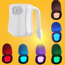 8 Colors Bathroom LED Toilet Seat Auto Night Light Motion Activated Sensor Lamp