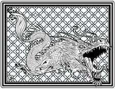 Coloring Page - Dragon # 9 - CURIS-ABAI (Hi-Res JPG file will be sent by email)