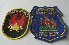 2  FIRE BRIGADE CLOTH PATCHS