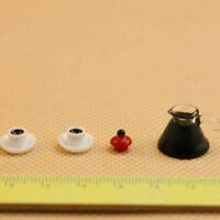 3PCS Coffee Pot Cup with Saucer Miniature For 1:12 Dollhouse Scale Gift Y7S9