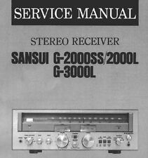 Sansui G-2000L G-2000Ss G-3000L Stereo Receiver Service Manual Printed English